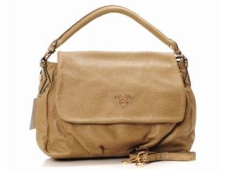 Prada Leather Tote Bag 6021 Khaki Tag Bags S