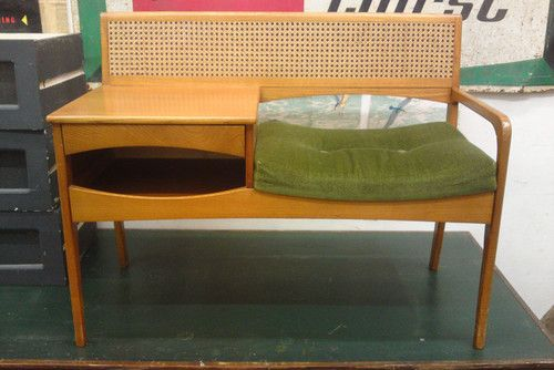 telephone hall table. Retro Vintage Telephone Hall Table Bench Seat Chair 70s