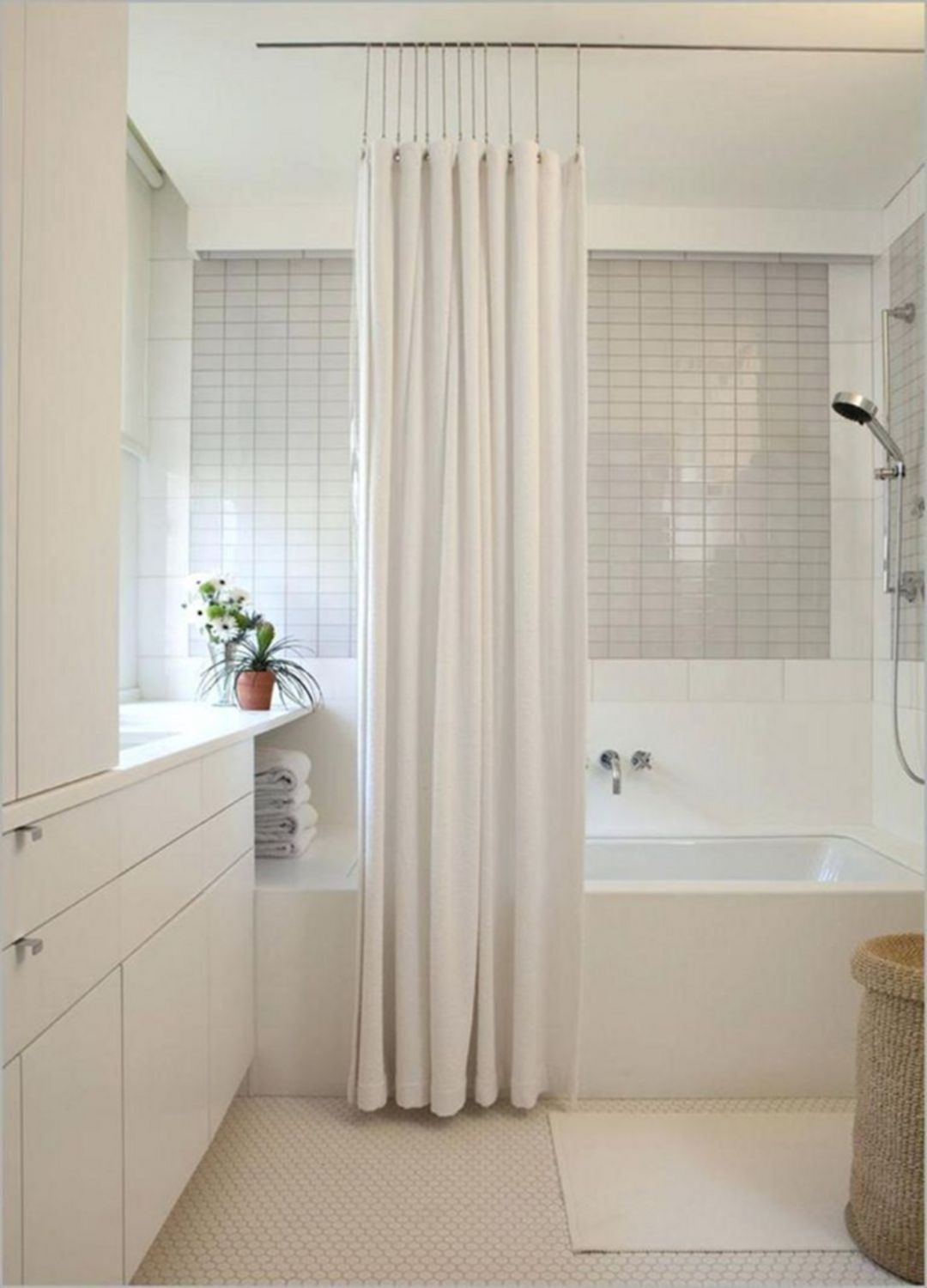 how to hang curtains from ceiling track