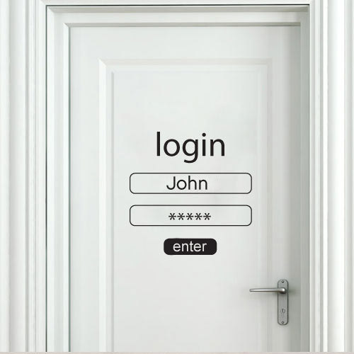 Quote Wall Decal   Login And Password   Wall Decals , Home WallArt Decals
