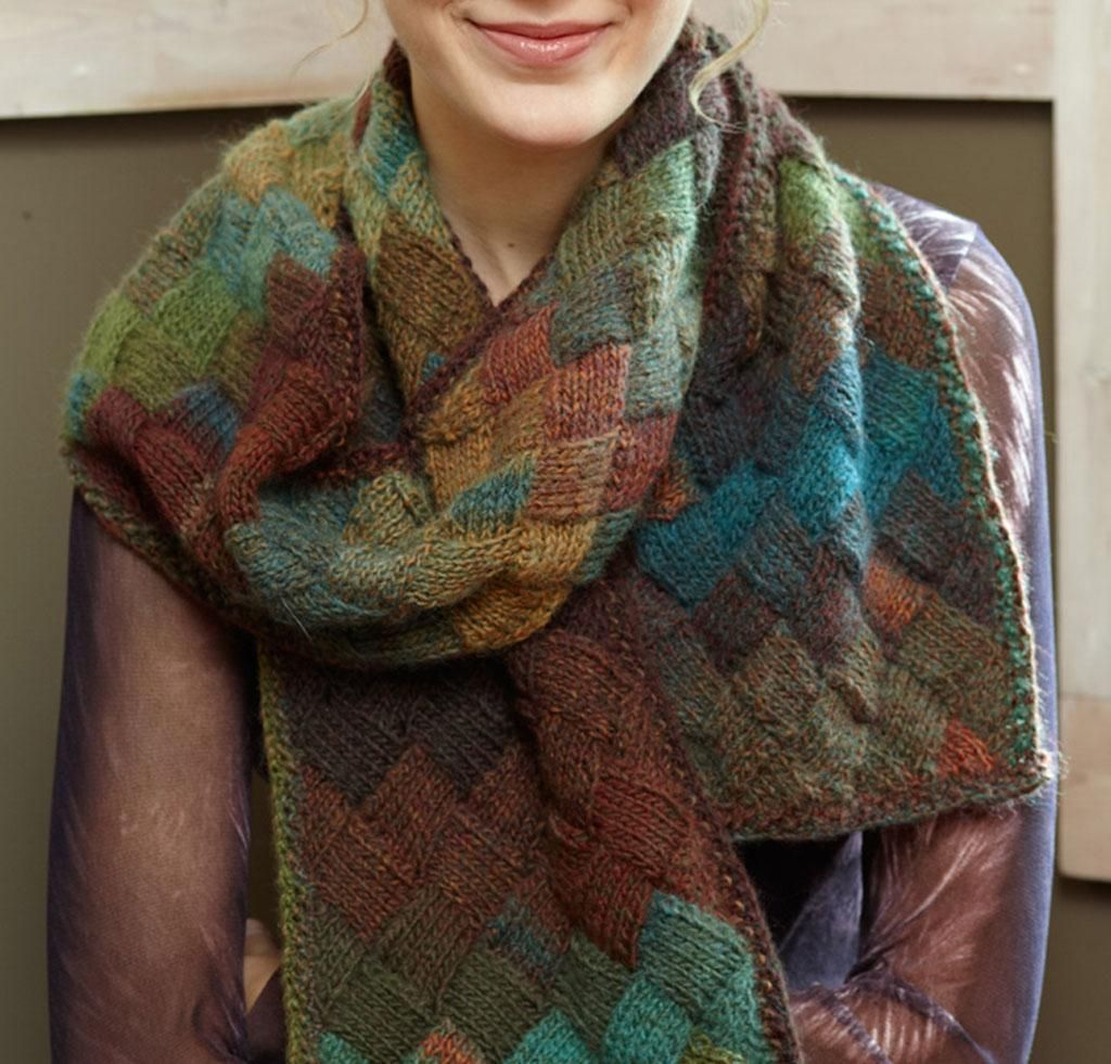 Entrelac scarf by lion brand knit kit none knitting entrelac scarf by lion brand knit kit none bankloansurffo Gallery