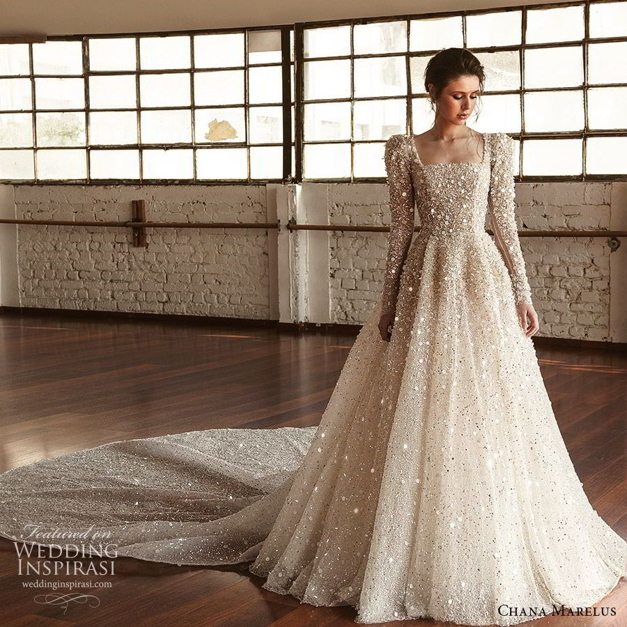Chana Marelus Fall Winter 2019 Wedding Dresses Wedding Inspirasi Wedding Dress Couture Sparkle Wedding Dress Wedding Dresses [ 900 x 900 Pixel ]
