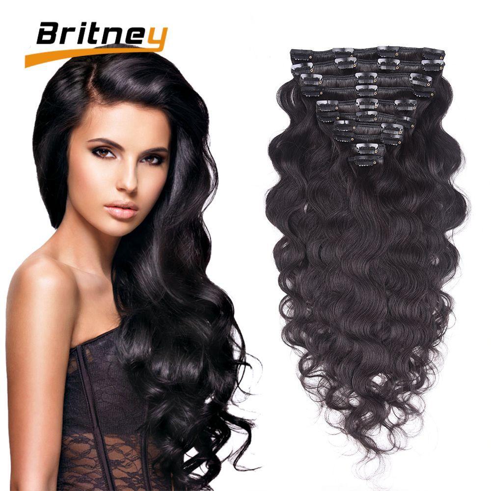 Brazilian Virgin Hair Clip In Human Hair Extension Pretty African