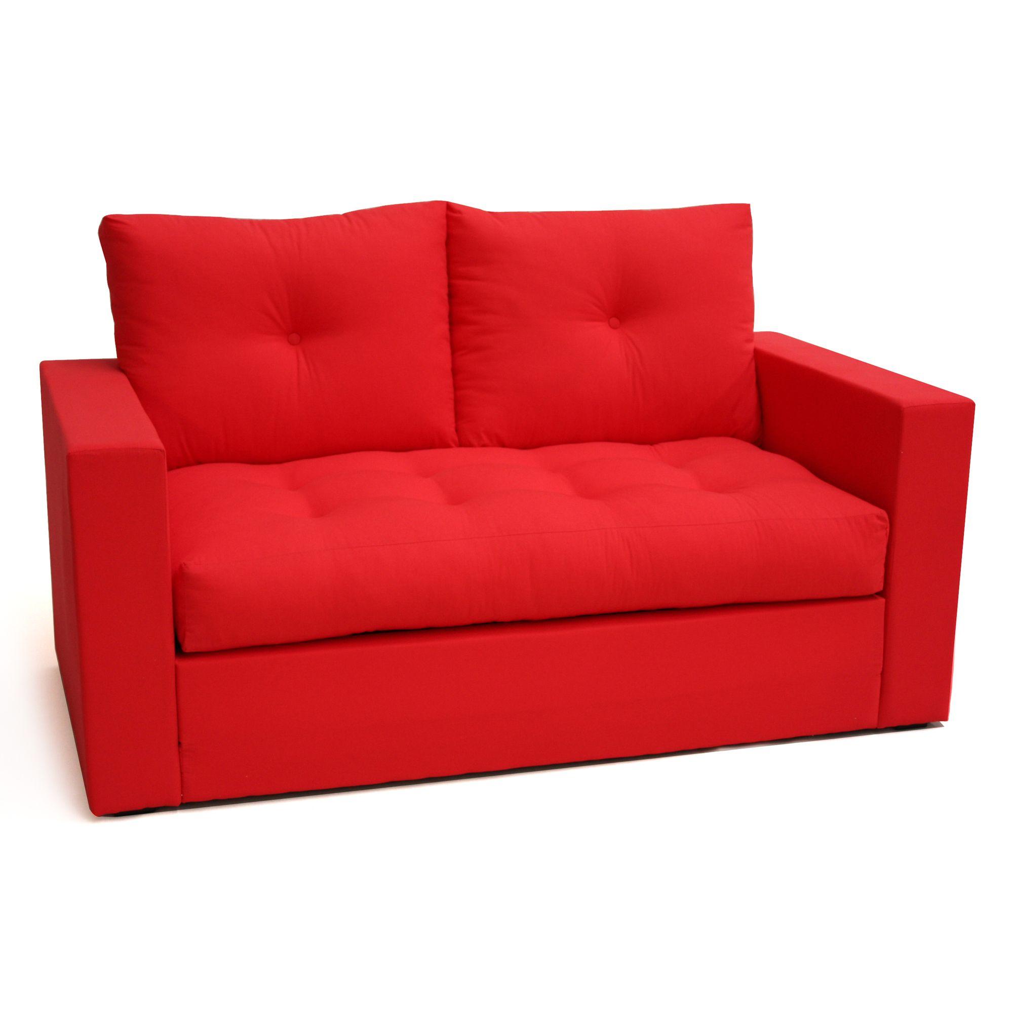 canap transformable 2 places enzo rouge prix promo la maison de valerie 15999 - Canape En Promotion