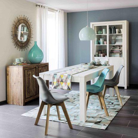 Silla de polipropileno azul y roble ice maisons du monde for Muebles maison du monde segunda mano