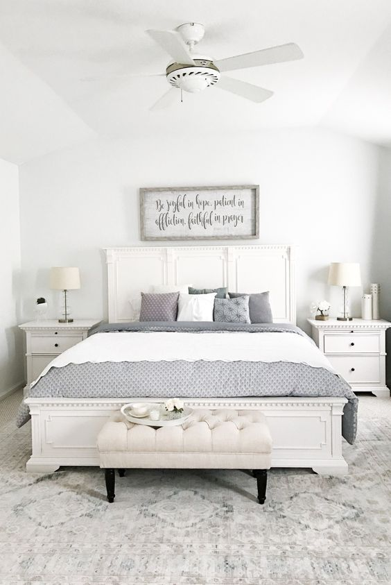 Angelina 4 Pc Queen Bedroom Set Farmhouse Master