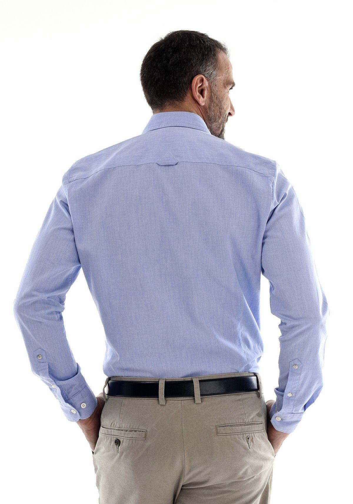 Chemise Mode Homme Bleue Ciel Classe Oxford. 100% coton. Style  Tendance  Printemps Automne Été Hiver 2018 Cérémonie Travail Mariage Office. Neuf.