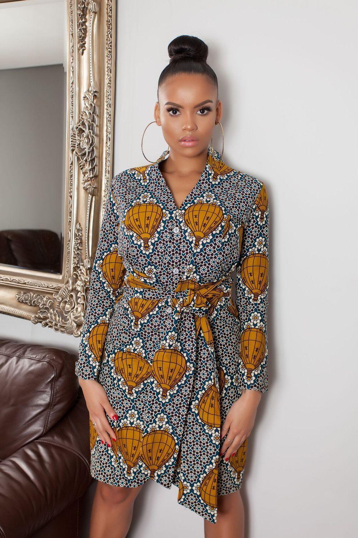 African Print Senegal Midi Dress: African Print Rundi Midi Dress