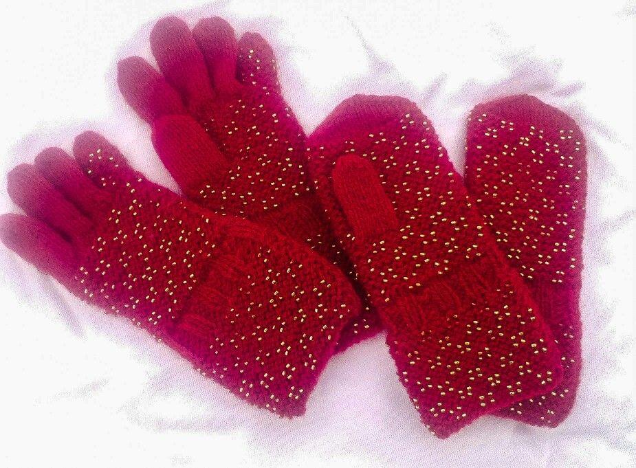 Pärlitega kootud labakud ja sõrmikud pisikesele preilile :)