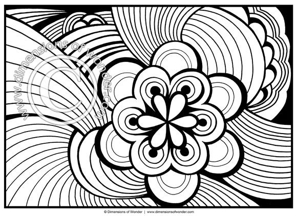 Abstract Coloring Pages for Adults {Printable} - Dimensions of ...