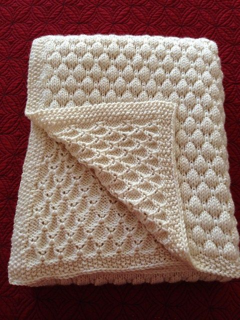 Baby Heart Textured Motif Blanket with Cables 73 x 84 cm DK Knitting Pattern