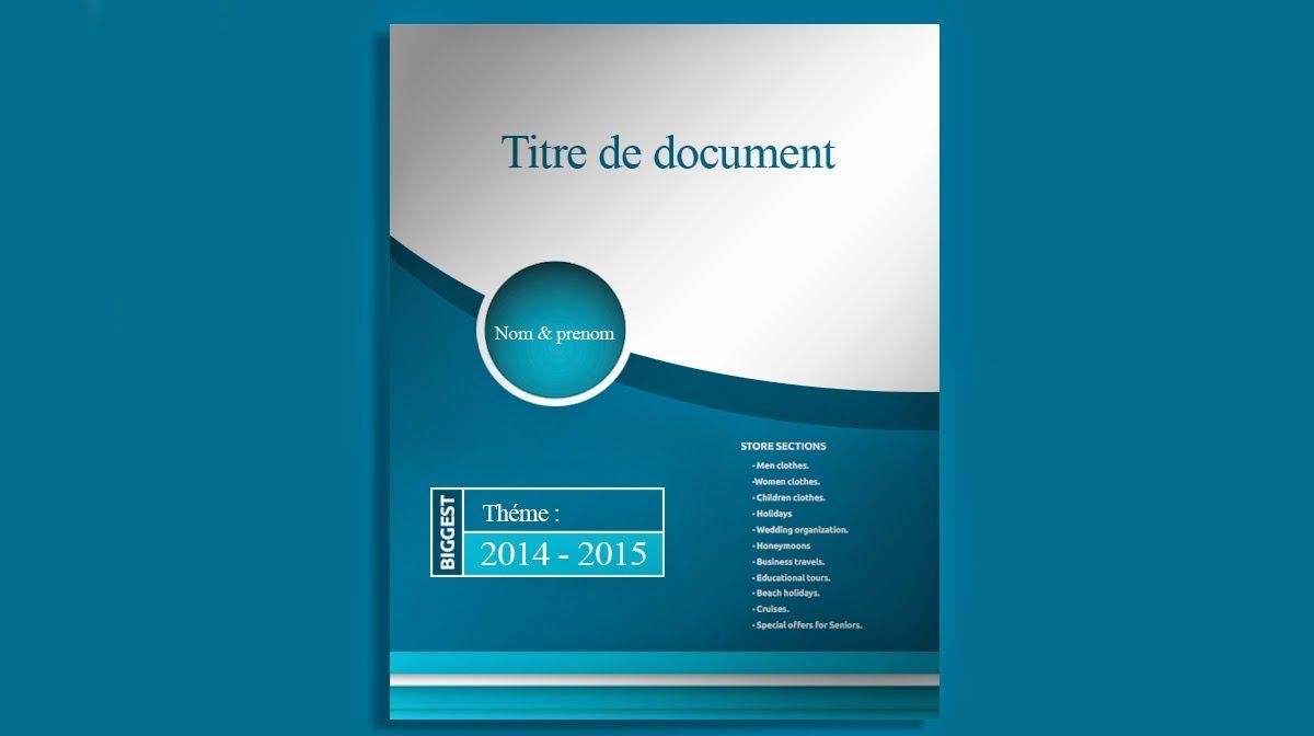 Telecharger Page De Garde Doc Pour Un Rapport De Stage Page De Garde Doc Page De Garde Word Modele De Brochure