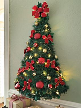 Pre Decorated Wall Tree Half Christmas Wall Tree Solutions