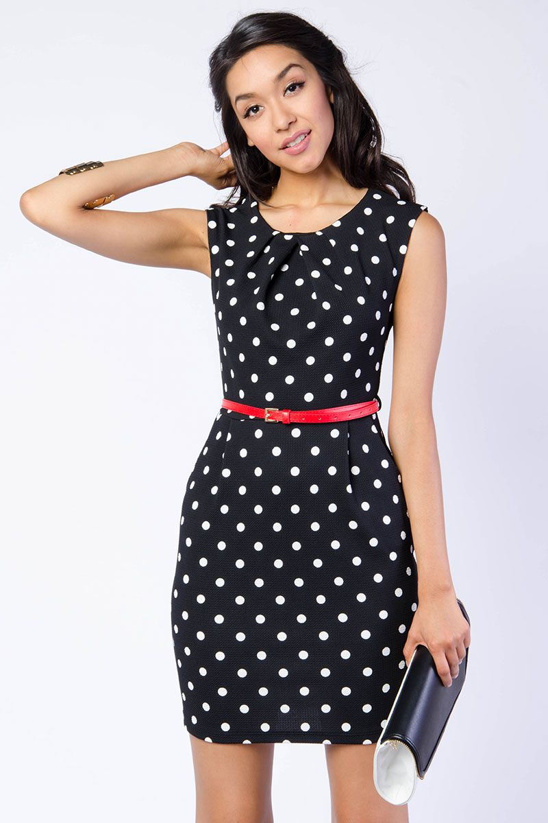 c75653afd Classy Polka Dot Dress. Classy Polka Dot Dress Junior Outfits, Outfits For  Teens, Trendy Plus Size ...