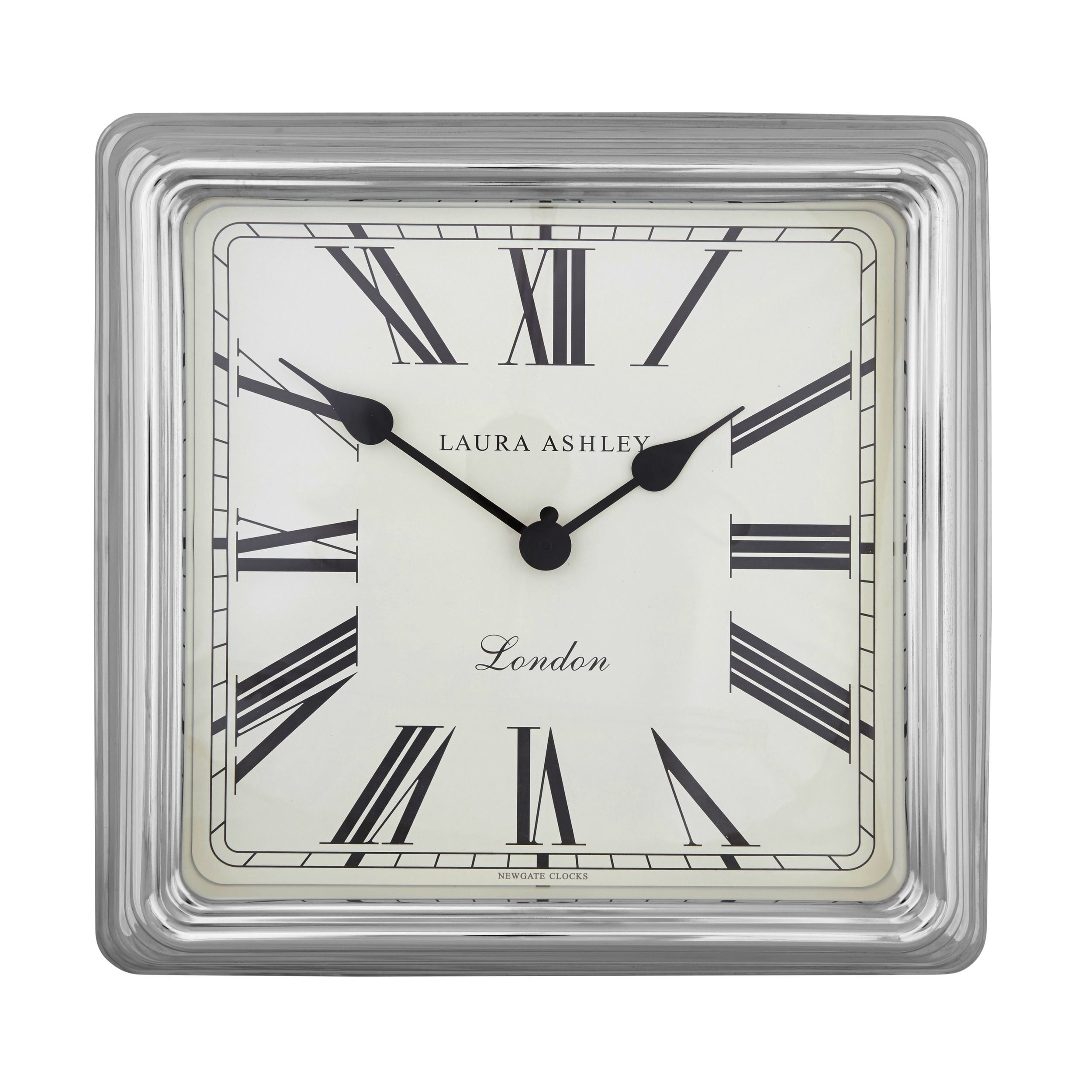 Square silver finish wall clock at laura ashley time pinterest square silver finish wall clock at laura ashley amipublicfo Choice Image
