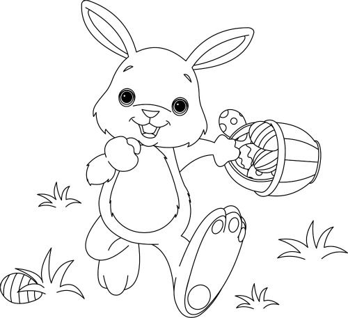 easter rabbit coloring page for children free easter fun