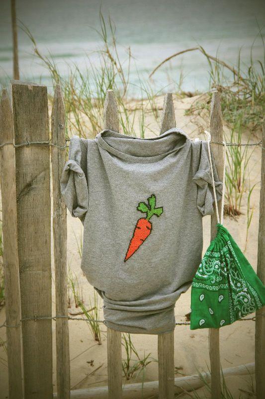 Tee-shirt canevas Carotte : incontournable cet été