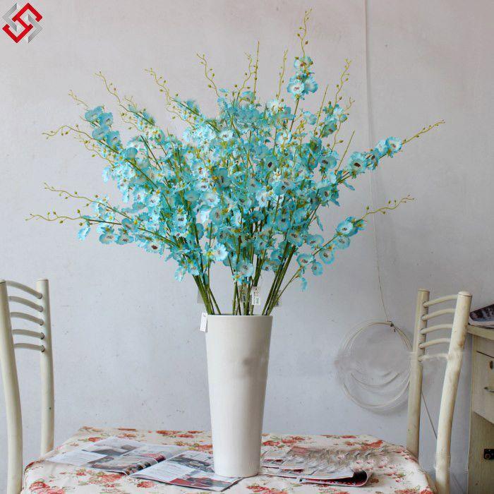 Muito Foto de 100 flores artificiais azuis quase naturais da senhora  ZS16