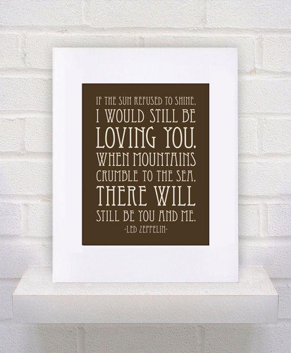 Thank You Led Zeppelin Lyrics   11x14  Custom  Gift by KeepItFancy, $10.00