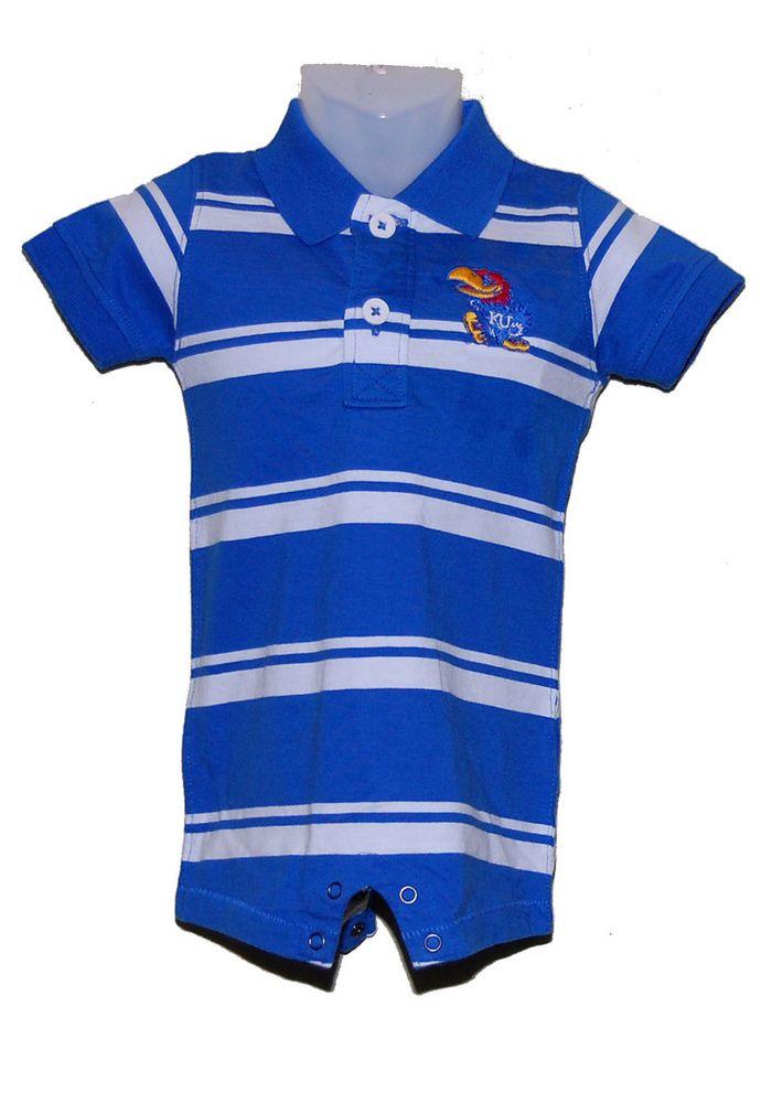 Kansas Jayhawks Baby Polo Creeper - Royal KU Jayhawks Parker Polo Romper