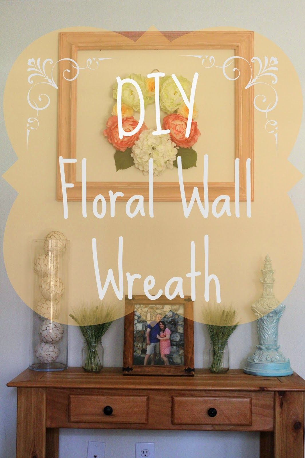 DIY} Floral wall Wreath | Floral wall, Wreaths and Floral