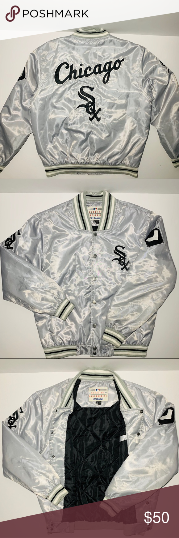 Chicago White Sox Varsity Jacket Varsity Jacket Outfit Varsity Jacket Long Sleeve Tshirt Men [ 1740 x 580 Pixel ]
