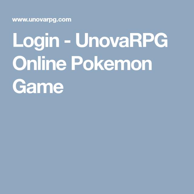 Login Unovarpg Online Pokemon Game Pokemon Online Games