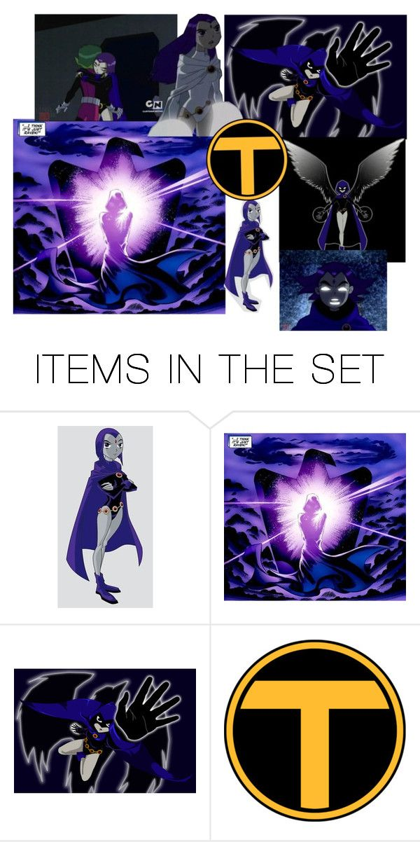 """""""Raven Teen Titans"""" by vermont-loves-kitties ❤ liked on Polyvore featuring art"""