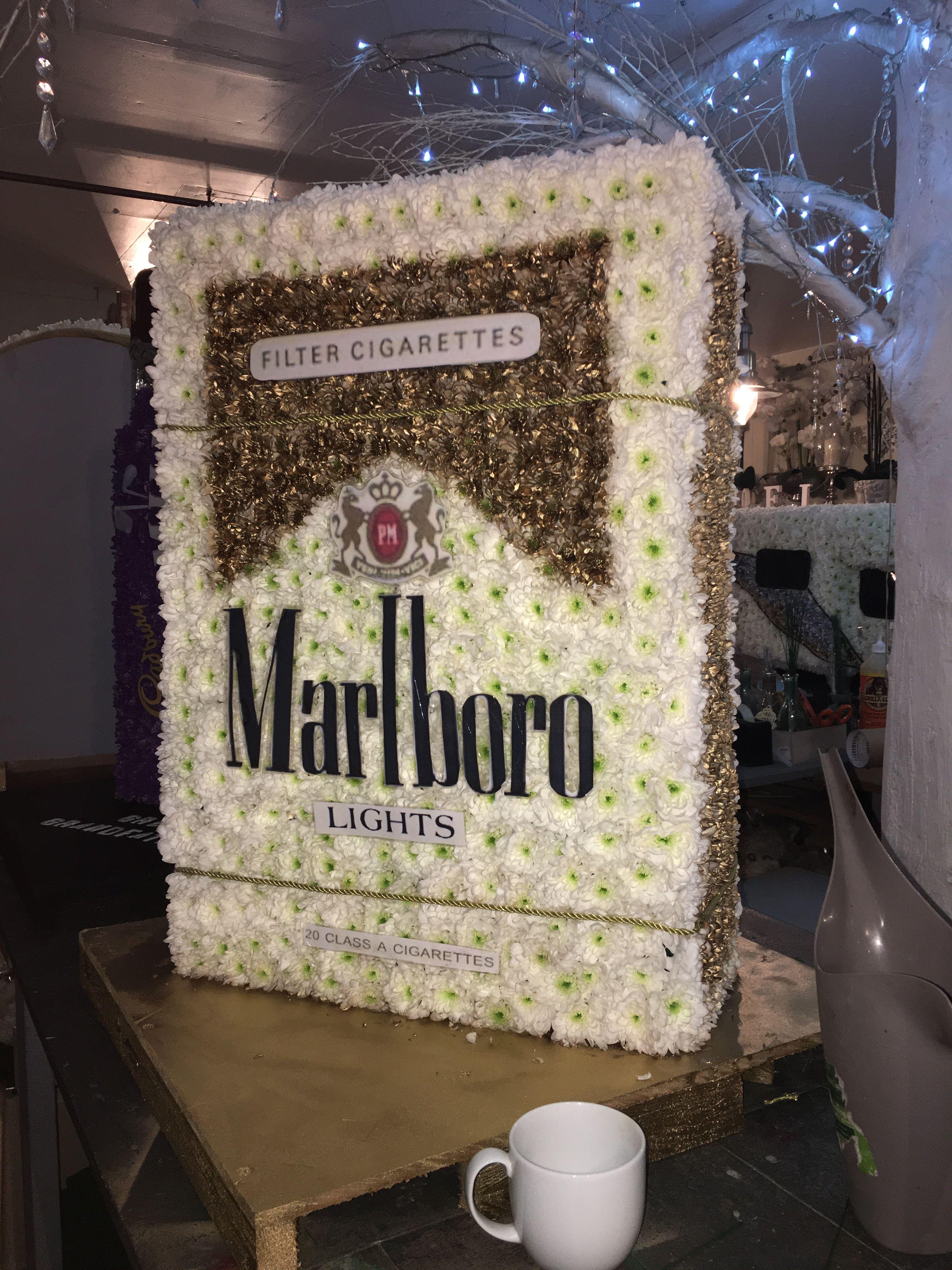 Marlboro cigarette box funeral flower tribute bespoke funeral marlboro cigarette box funeral flower tribute bespoke funeral flowers thefloralartstudio izmirmasajfo Image collections