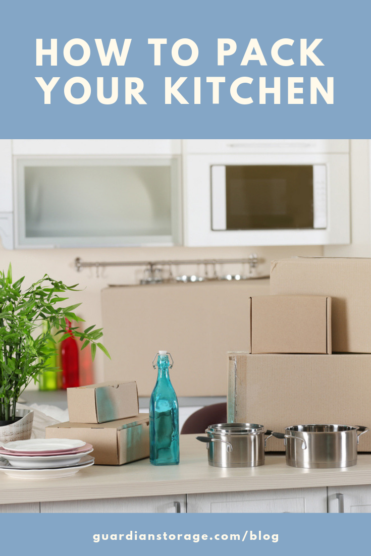 How To Pack Your Kitchen For Moving Guardian Self Storage Pittsburgh Colorado Moving Supplies Kitchen Pot Organizing For A Move