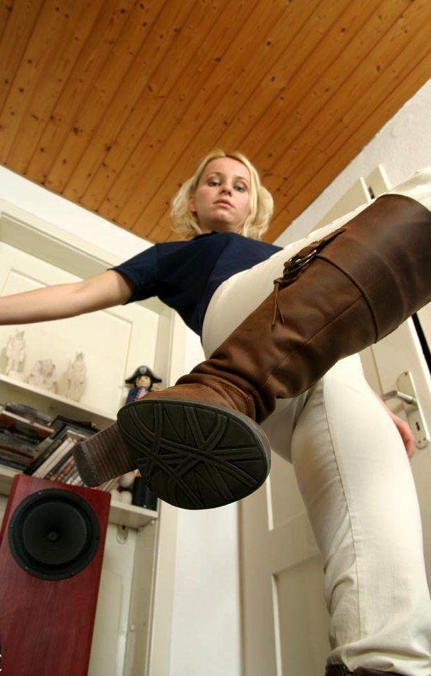 Femdom boots pov