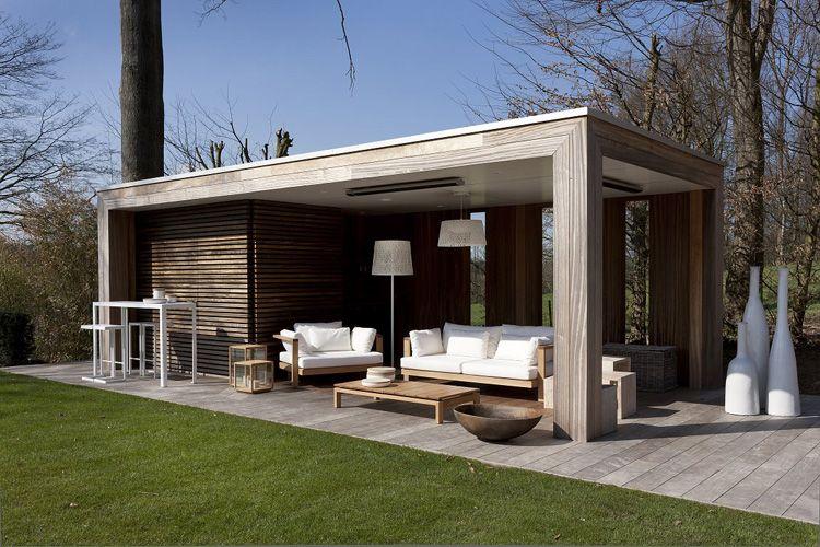 Modern tuinhuis met veranda landscaping in