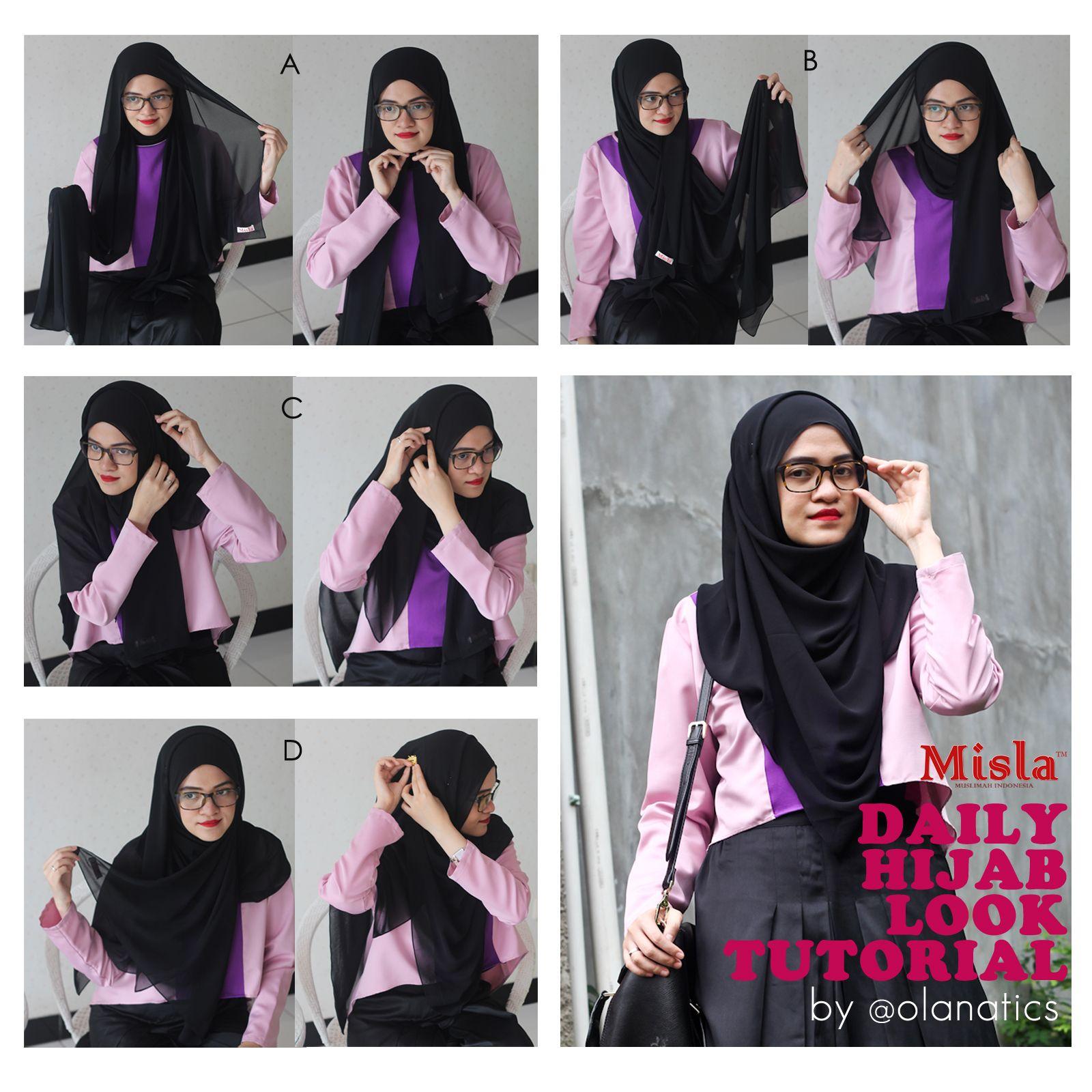 8 Simple Tutorial Hijab Paris Ala Jenahara Untuk Santai Tutorial