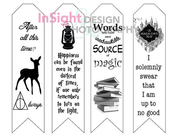 Magical Printable Bookmarks Harry Potter Harry Potter Books