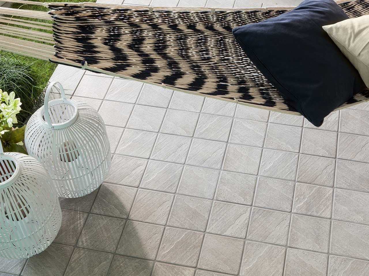 Pavimento per esterni in gres porcellanato badia grigio formato