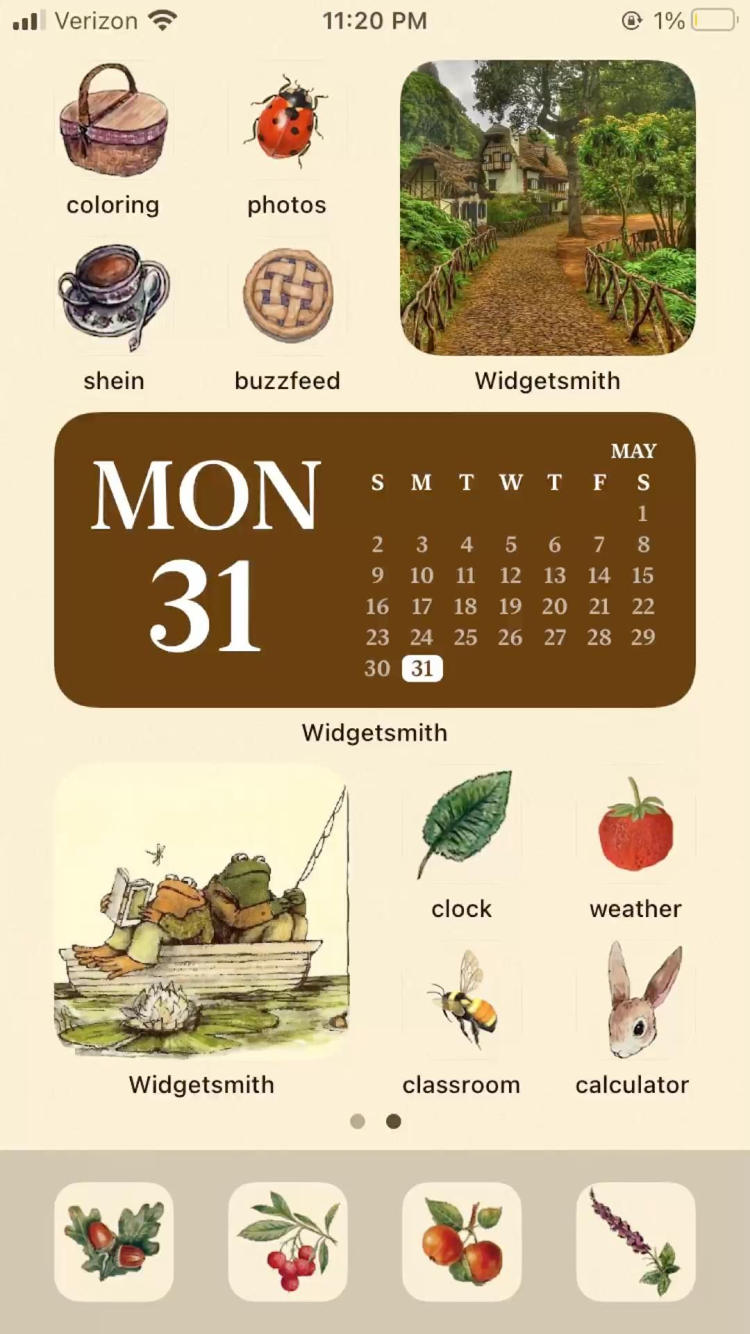 frog & toad ios14 home screen set 2 —follow for more home screen sets <33
