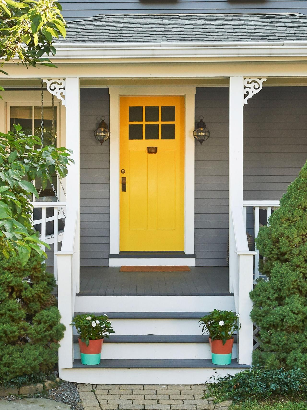 Strange Image Result For Yellow Door Gray House Home Inspiration And Lifestyle Pinterest Yellow Door Handles Collection Dhjemzonderlifede