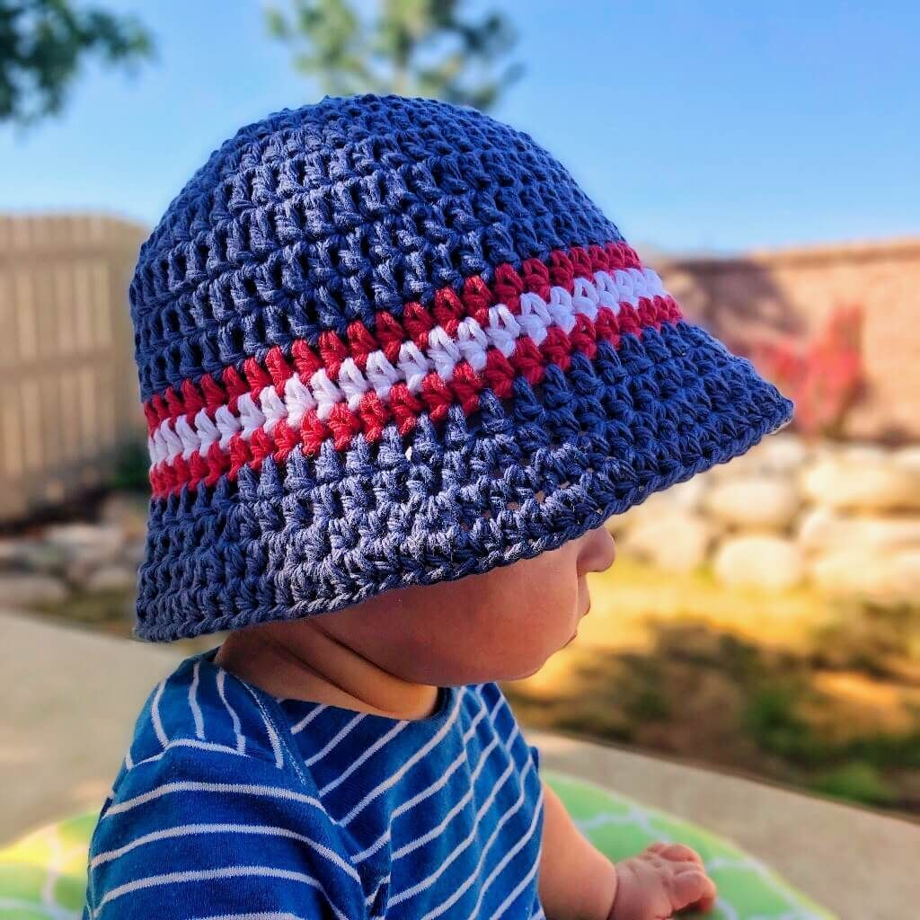 Super Simple Kid's Sun Hat Free Crochet Pattern   Crochet sun hat ...