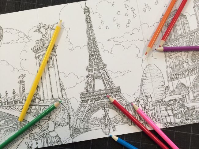 Paris Drawing Beautiful And So Realistic Painted Books Eiffel Tower Drawing Paris Drawing