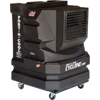 Port-A-Cool Cyclone 3000 Evaporative Cooling Unit — Model# PAC2KCYC01, $700, Patio Air Conditioner