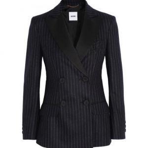 Moschino - Wool Blazer Pinstriped Black - $658.50 (70% off)