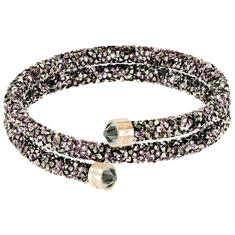 Swarovski rose crystaldust double bangle diamond design bangle