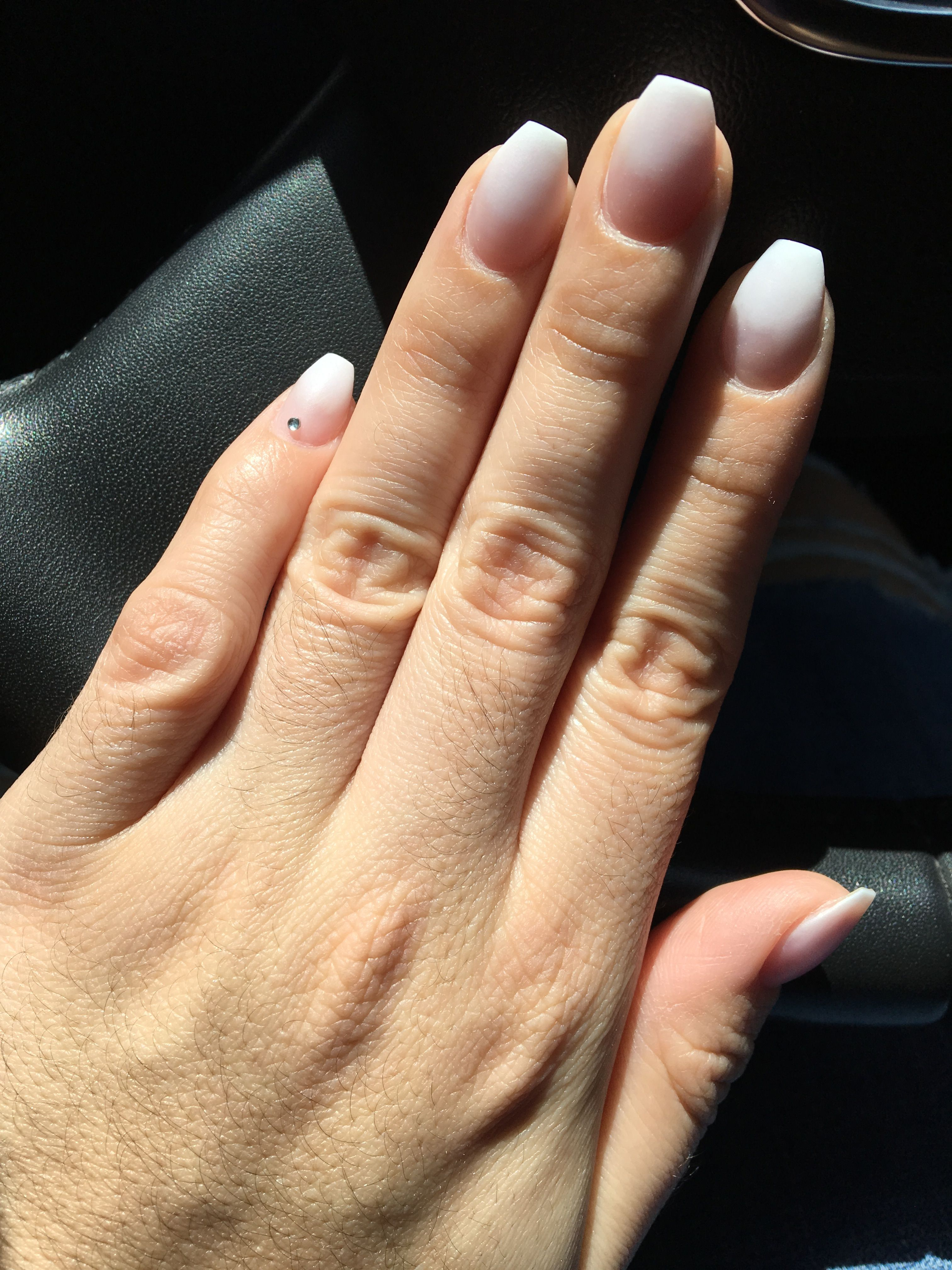 French ombré coffin nails | My nails | Pinterest | Coffin nails
