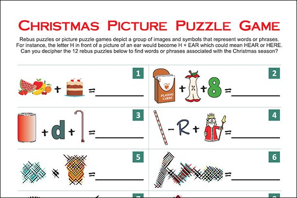 Christmas Picture Puzzle Game (With images) Picture