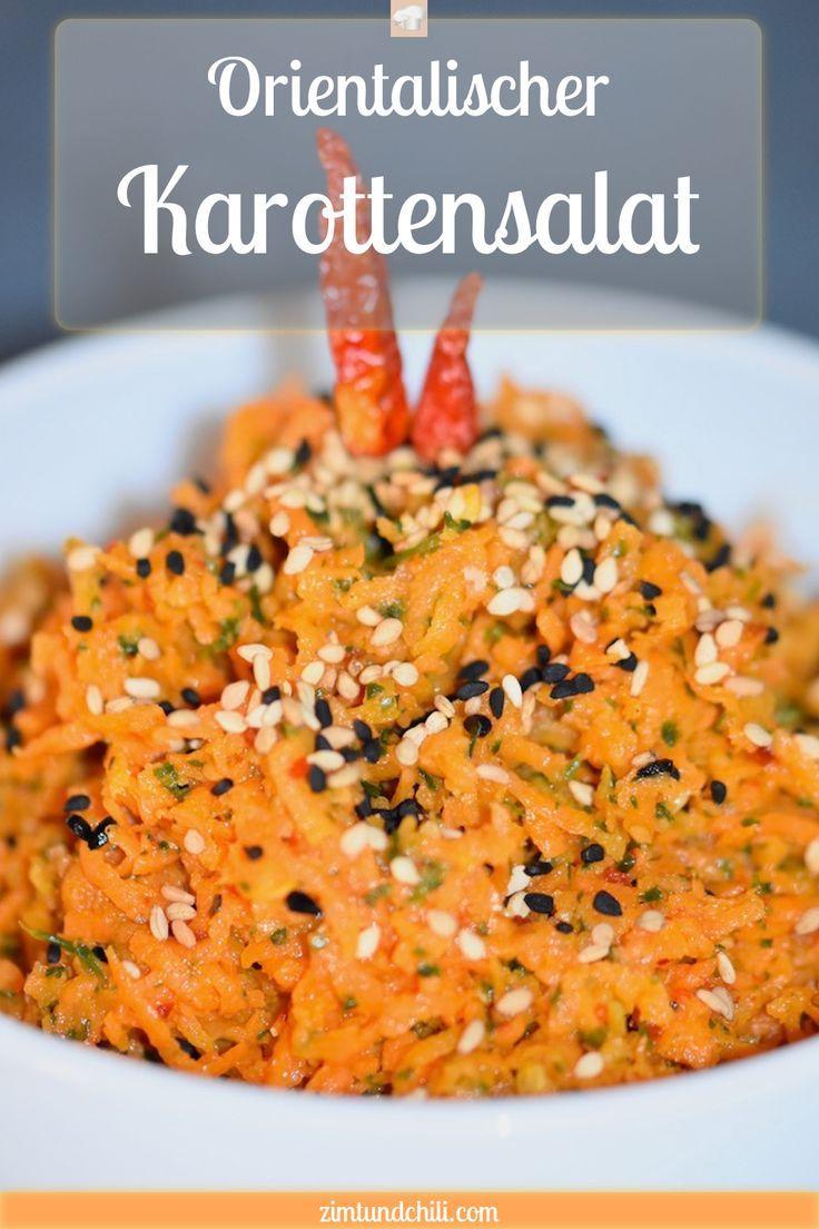 Orientalischer Karottensalat - Zimt & Chili #cleaneating