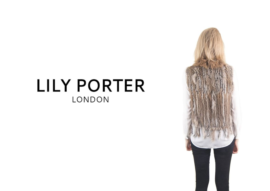 Natural Fur Gilet from Lily Porter  www.lilyporter.co.uk