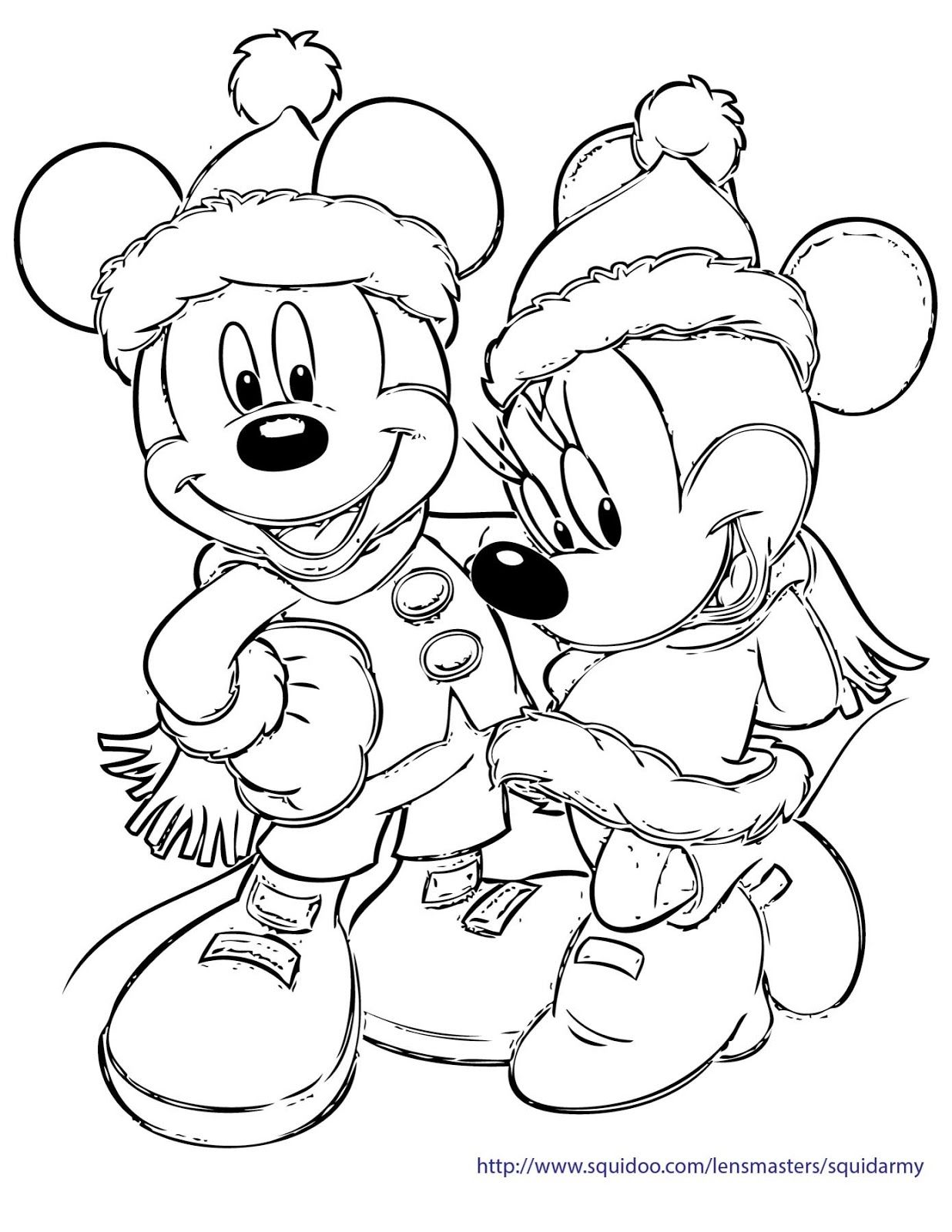 Disney Christmas Coloring Pages Holiday Printables Christmas