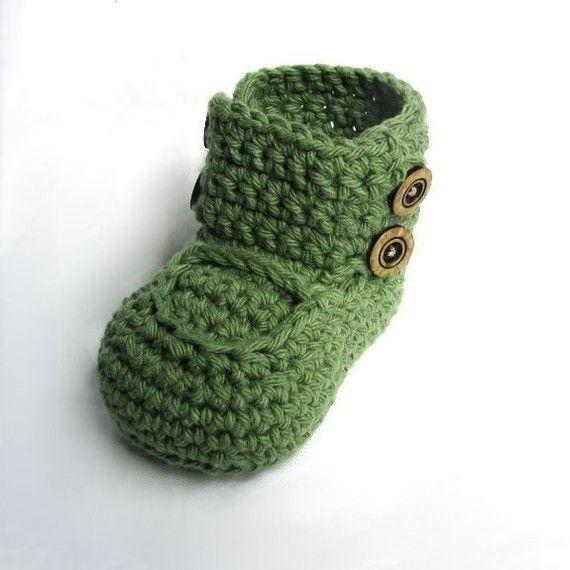 Boys Boots Crochet Pattern Crochet Booties Pattern Baby Shoes ...