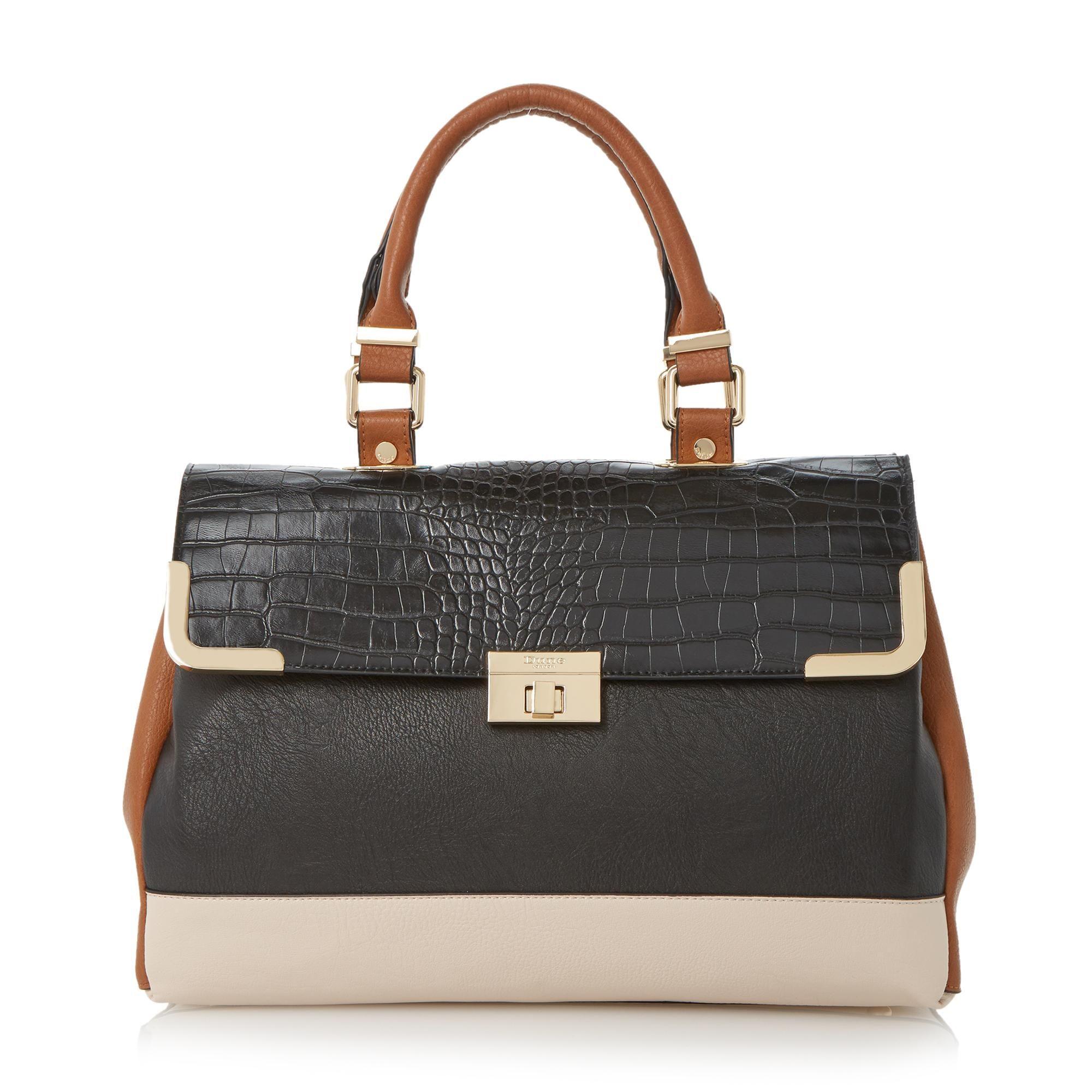 Dune Accessories Dolly Colour Block Top Handle Bag Black Shoes Online