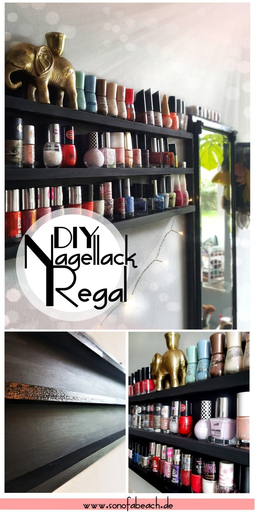 diy nagellack regal einfach und g nstig selber bauen diy dekoration home decor. Black Bedroom Furniture Sets. Home Design Ideas